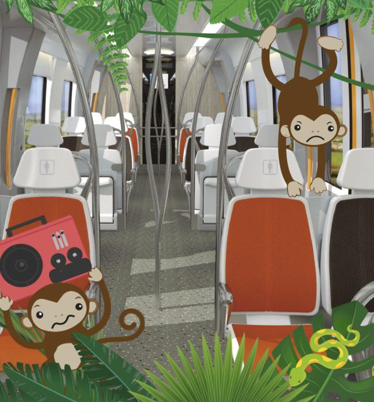 Respeto a los equipamientos: El tren y el tranvía no son una jungla